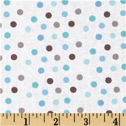 New Baby Multi Dots Blue