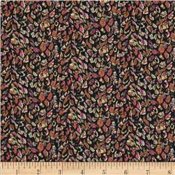 Liberty of London Tana Lawn Rachel De Thame Black/Tangerine