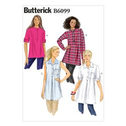 Butterick Misses' Tunic Pattern B6099 Size 0Y0