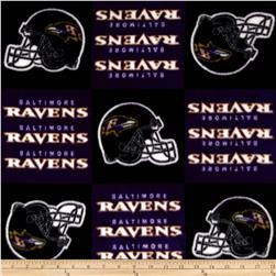 NFL Fleece Baltimore Ravens Squares Black/Blue