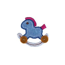 Rocking Horse Applique Blue