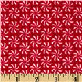 Riley Blake Home for the Holidays Flannel Peppermint Red