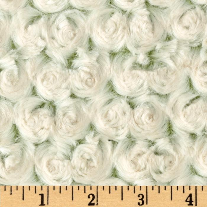 Minky Frosted Rose Cuddle Olive/Beige