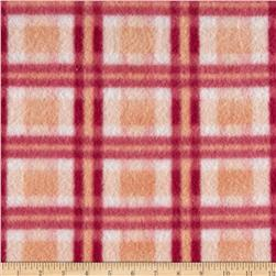 Fleece Plaid Burgundy/Pink/White