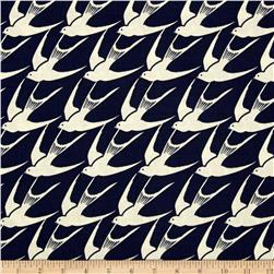 Cotton & Steel Bluebird Flock Navy