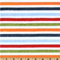 Minky Cuddle Striped White/Orange