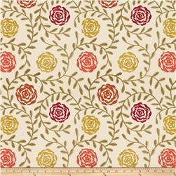 Fabricut  Embroidered Florian Terra Cotta