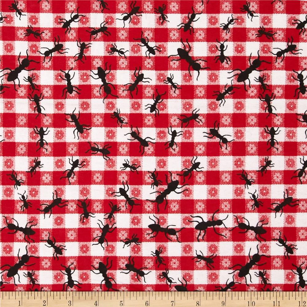 Comfy Flannel Ants Red