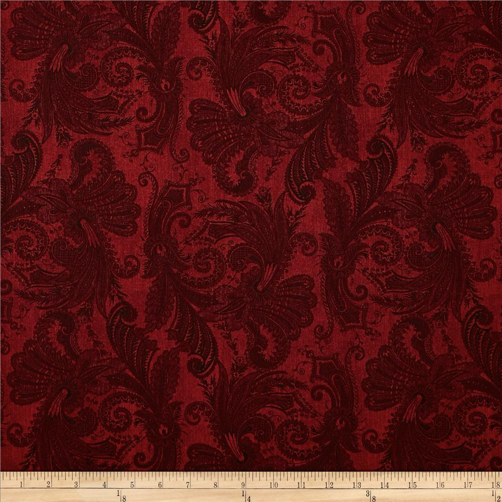 "108"" Wide Essentials Quilt Backing Marrakesh Red"