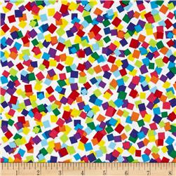 Kanvas Bright Idea Rainbow Confetti White