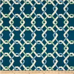 Tempo Indoor/Outdoor Nautical Rope Turquoise Fabric