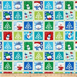 Benartex Christmas Snow Day Patch Red Multi