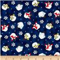 Snow Much Fun Snowman, Snowballs Midnight Blue