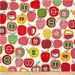 Alexander Henry In The Kitchen Apple Of My Eye Tea/ Dk Pink