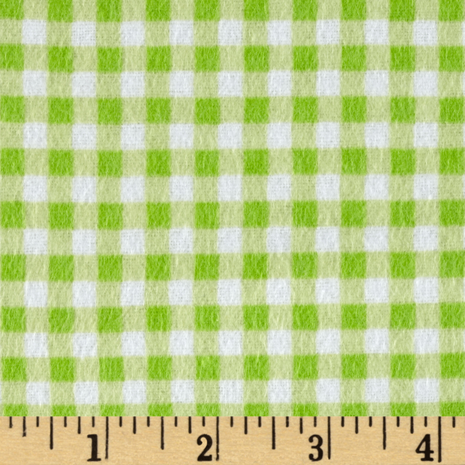 Flannel Basic Plaid Green Apple Fabric by David in USA