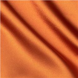 Poly Charmeuse Satin Orange Fabric