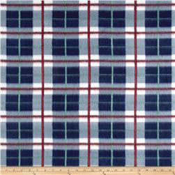 Fleece Plaid Red/White/Navy