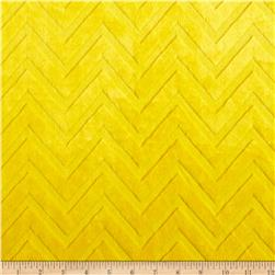 Minky Cuddle Embossed Chevron Lemon