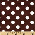 Minky Minnie Dots Brown/White