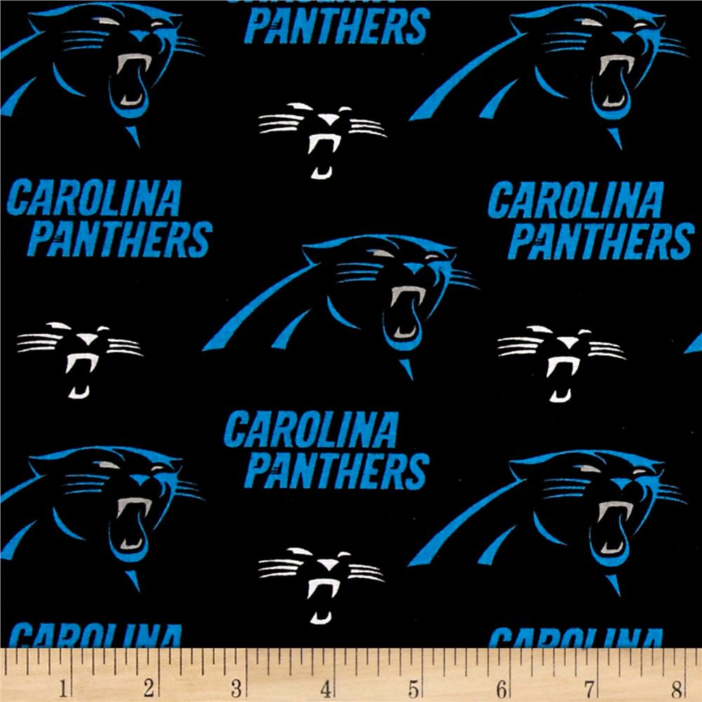 NFL Cotton Broadcloth Carolina Panthers Black/Blue