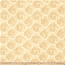 "Breezy 108"" Wide Back Circular Print Dark Tan On Tan"