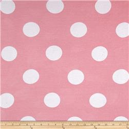 Cotton Baby Rib Knit Polka Dot Pink