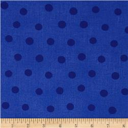 Moda Beary Happy Birthday Dots Tonal Blue
