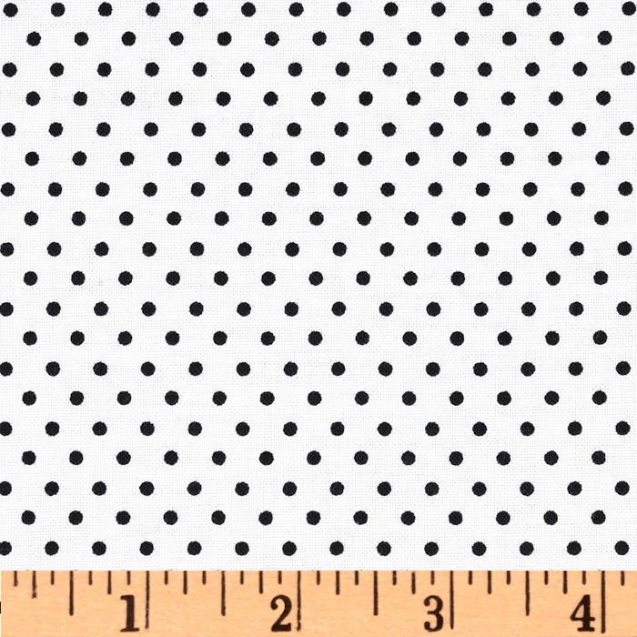 Classic Dots & Stripes Small Dots White/Black