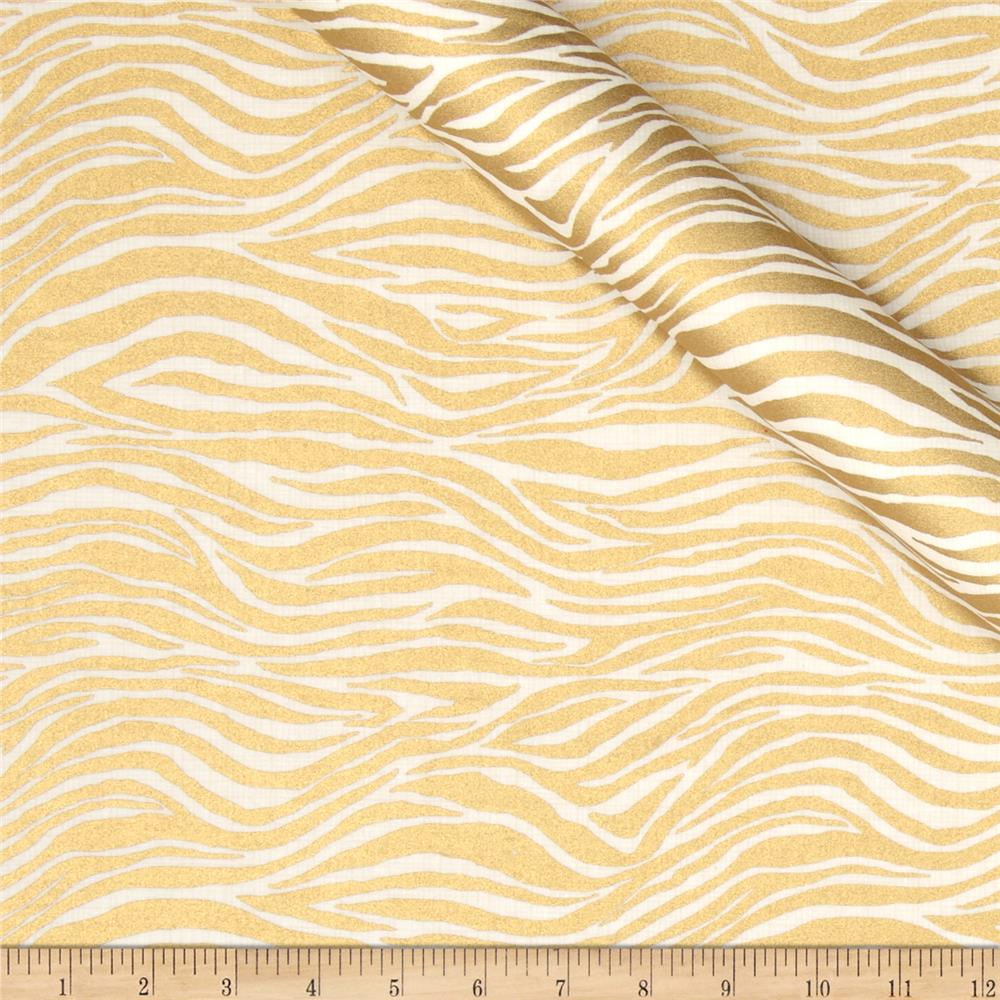 Jackie Heavy Metal Collection Zebra Metallic Gold