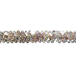 Stretch 7/8'' Holographic Sequin Trim Silver