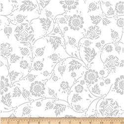 Riley Blake RoseCliff Manor Vine Grey Fabric