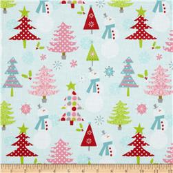 Riley Blake Christmas Basics Main Blue