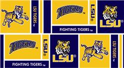 Collegiate Cotton Broadcloth Louisiana State University Squares