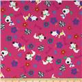 Fabri-Quilt Cuddle Flannel Dogs Woof Pink