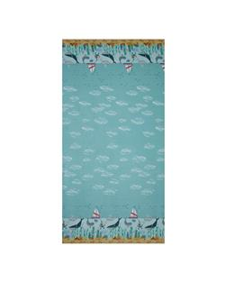 Tales of The Sea Whale Border Light Aqua