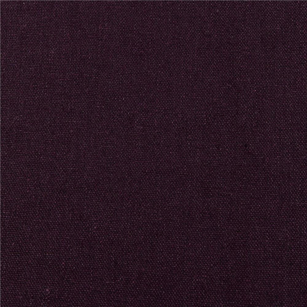 Kaufman Brussels Washer Linen Blend Dark Purple - Discount