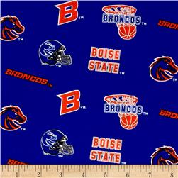 Collegiate Cotton Broadcloth Boise State University Blue Fabric