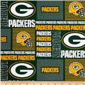 NFL Wide Cotton Broadcloth Green Bay Packers Patchwork Green/Yellow