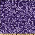 108'' Tonal Scroll Quilt Backing Purple