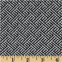 Bengaline Jacquard Abstract Print Black/White