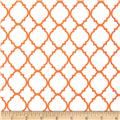 Quatrefoil White/Orange