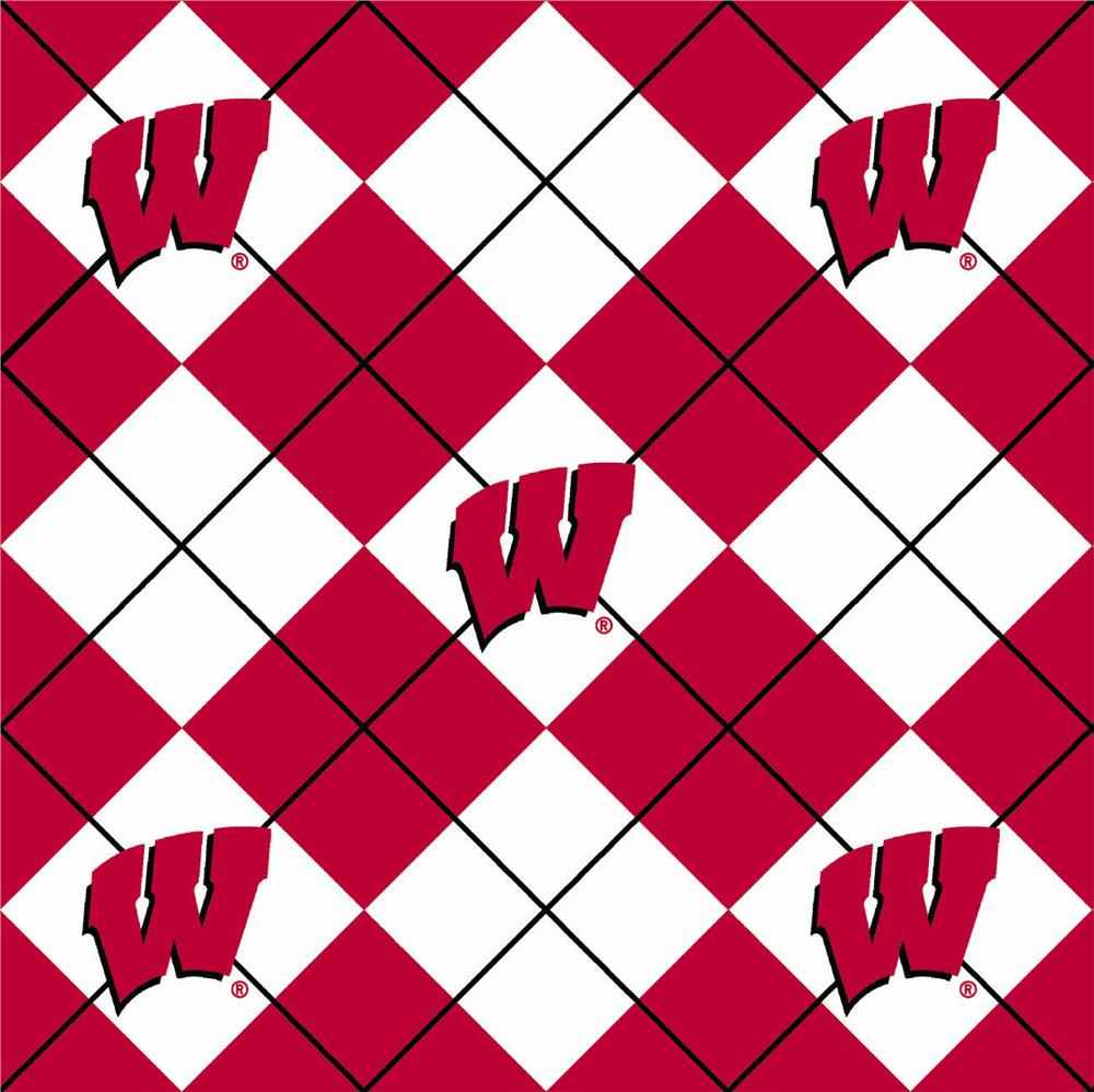 Collegiate Fleece University of Wisconsin Argyle Red/White