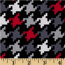 Michael Miller Everyday Houndstooth Rouge Fabric