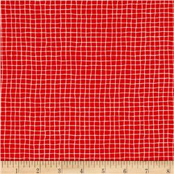Kitty Beach Plaid Grid Red