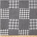 Madras Patchwork Plaid Black White