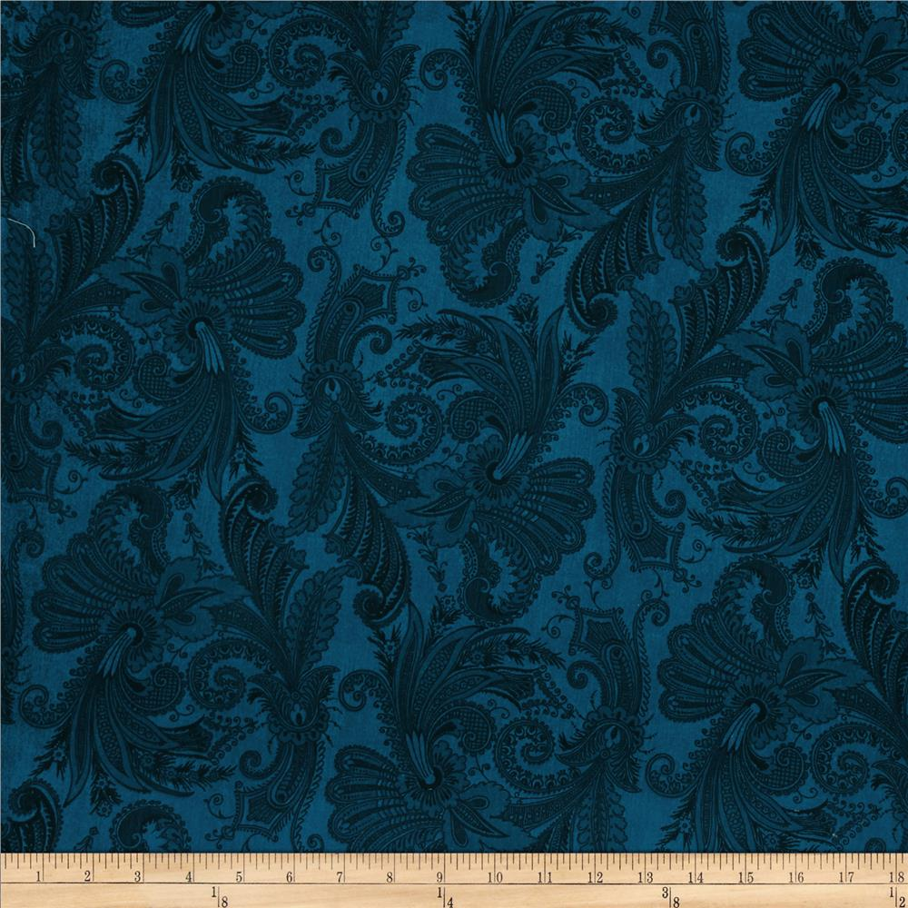 "108"" Wide Essentials Quilt Backing Marrakesh Dark Blue"