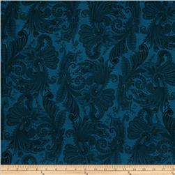 "108"" Marrakesh Quilt Backing Dark Blue"