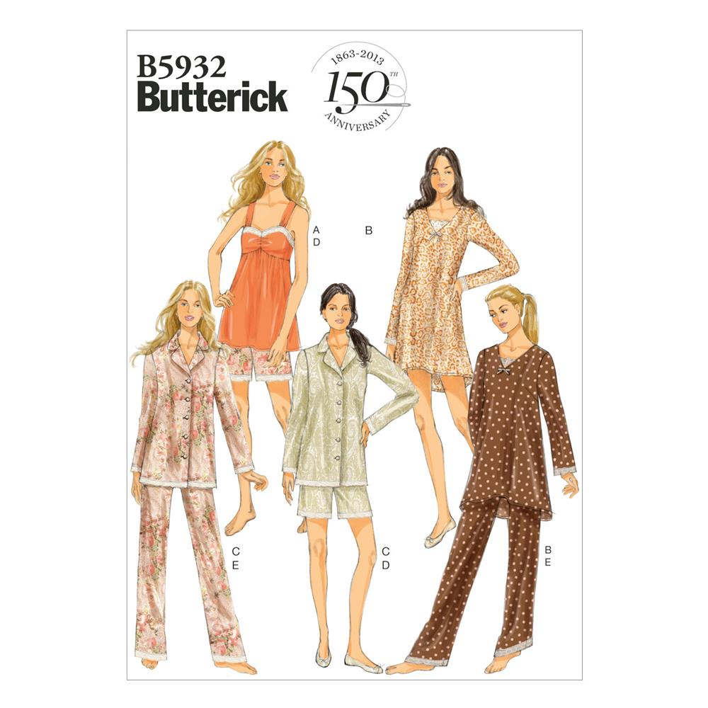 Butterick Misses' Camisole, Dress, Top, Shorts and Pants