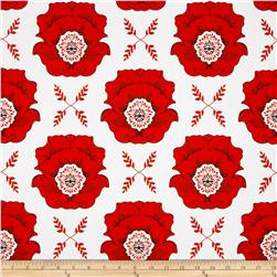 Riley Blake Mod Studio Large Floral Red Fabric