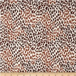 Black & Tan Leopard Cognac/White Fabric